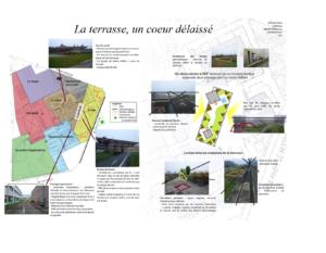 Poster du toit-terrasse réalisé par Mlles FROGER et GRAVALON et M. HAXAIRE et GARY