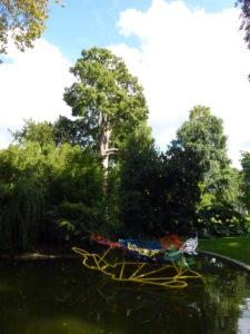 Sculpture moderne au jardin des plantes- Chloé Froger, 2014