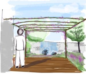 Croquis d'ambiance : la terrasse
