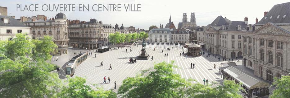 Place du Martroi, Orléans - Agence Laverne
