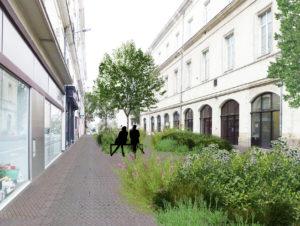 Phtomontage - Une traversée verte qui dessert le centre-ville